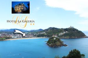 El Hotel La Galeria es un hotel ubicado en un bello edificio de estilo frances del siglo XIX. esta muy cerca de la playa de la concha