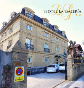 hotel en la bahia de la concha con parking gratis. Una de las ventajas del hotel la galeria de san sebastian donostia