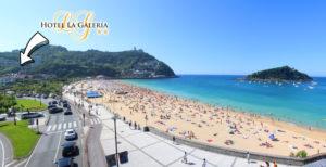 Tu otro parking de la concha es el Hotel La Galeria de San Sebastián. Tenemos plazas de aparcamiento gratis para nuestros huéspedes.
